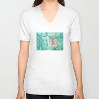 breathe V-neck T-shirts featuring Breathe by Pendientera