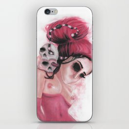 Red Coloured Dreams iPhone Skin