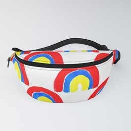 Watercolor Primary Rainbows Repeat Fanny Pack