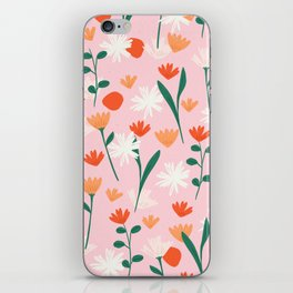 Summertime Floral Pattern iPhone Skin