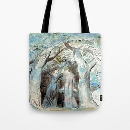 "William Blake ""Illustrations to Dante's Divine Comedy - Dante and Virgil Penetrating the Forest"" Tote Bag"