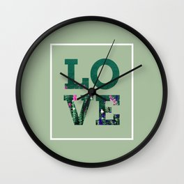 Love Garden Wall Clock