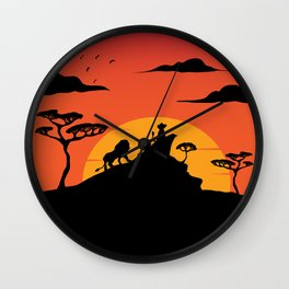Savannah Sunset Wall Clock