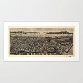 Aerial View of Berkeley, California (1909) Art Print