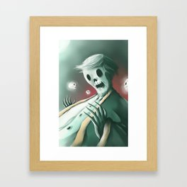 The haunted thoughts Framed Art Print