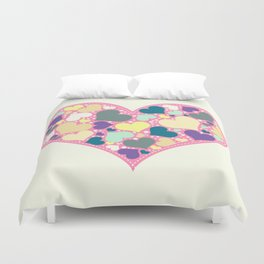 Hearts and Dots Duvet Cover