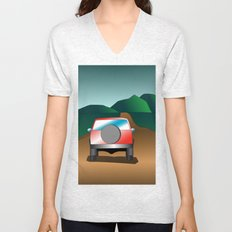 Exploring the countryside Unisex V-Neck