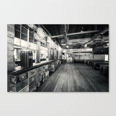 Gruene Hall (interior) - Oldest Dance Hall in Texas (Black & White) Canvas Print