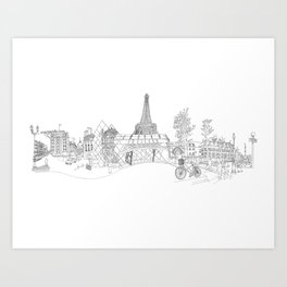 Paris! Version#1 Art Print