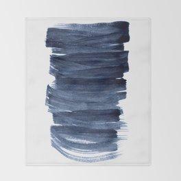 Just Indigo 3 | Minimalist Watercolor Abstract Throw Blanket