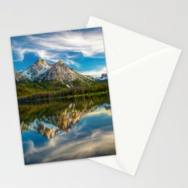 Sawtooth Range Morning Reflection Stationery Cards
