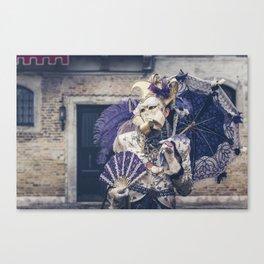Carnavale di Venezia 2018 purple Canvas Print