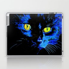 Marley The Cat Portrait With Striking Yellow Eyes Laptop & iPad Skin