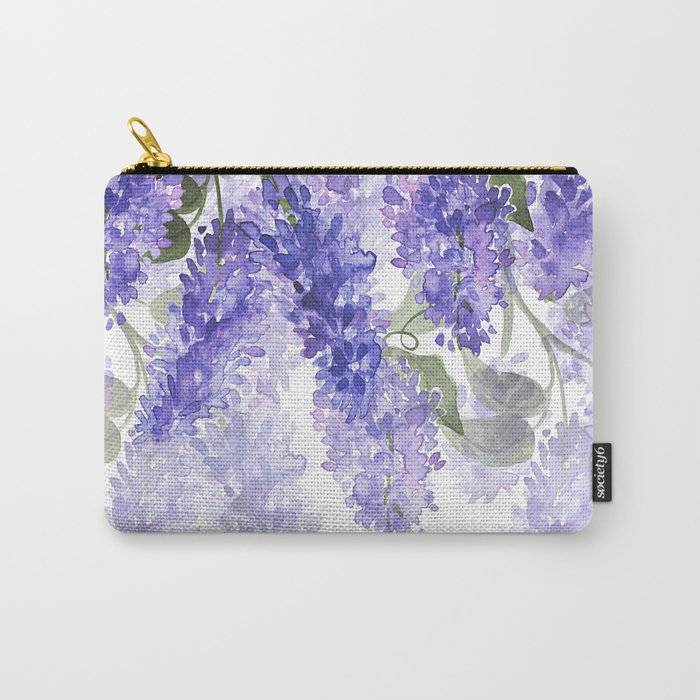 Purple Wisteria Flowers Carry-All Pouch