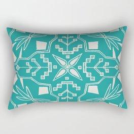Turquoise Batik Rectangular Pillow
