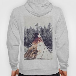 Tipi With Painted Elk And Birds Hoody