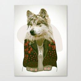 wolf jacket Canvas Print
