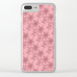 Mauve on Pink Stargazer Clear iPhone Case