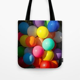 Colorful Toy Balloons Tote Bag