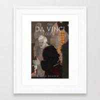da vinci Framed Art Prints featuring Da Vinci Code by Meen Choi