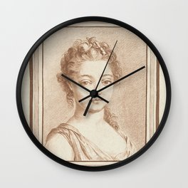 Bust of a young girl, Louis Marin Bonnet, 1757 - 1793 Wall Clock