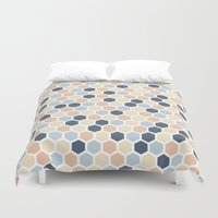 honeycomb Duvet Covers featuring Honeycomb by 603 Creative Studio