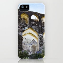 Golconda Fort Ruins with Traditional Indian Architecture and Design in Hyderabad, India iPhone Case