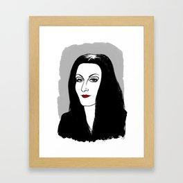 MORTICIA ADDAMS - THE ADDAMS FAMILY Framed Art Print