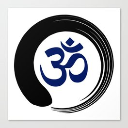 Namaste Zen Circle Meditation Prayer Ohm Aum Om Oum Peace Tai Chi Taiji Canvas Print