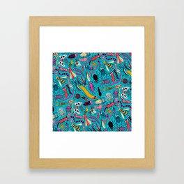 Bug Pattern Framed Art Print
