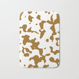 Large Spots - White and Golden Brown Bath Mat