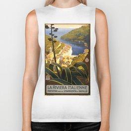 Vintage poster - La Riviera Italienne Biker Tank