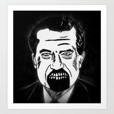 37. Zombie Richard Nixon  Art Print