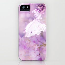 Butterfly :: White Violet iPhone Case