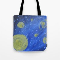 fireflies Tote Bags featuring Fireflies by Angelina Yvette