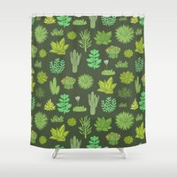 succulents Shower Curtains featuring Succulents by Anna Alekseeva kostolom3000