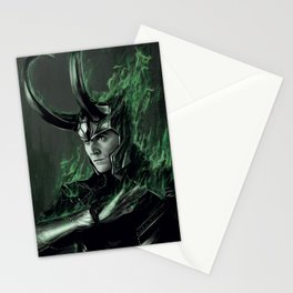 Green Fire Stationery Cards