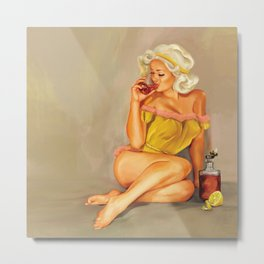 Have a little Whiskey, Honey Metal Print