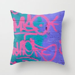 Graffiti Style Street Art - by Dominic Joyce Throw Pillow