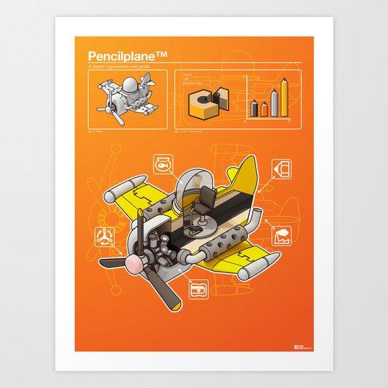 Pencilplane II : Infographic Art Print