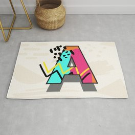 """Letter """"A"""" in Memphis Style Rug"""