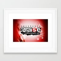 scripture Framed Art Prints featuring Bible Scripture by Azeez Olayinka Gloriousclick