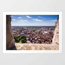 View of York from York Minster Cathedral tower Art Print