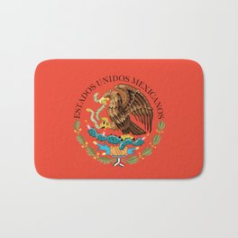 Mexican seal on Adobe red Bath Mat