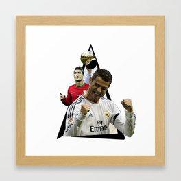 Youtriangle ∆ Cristiano Ronaldo Framed Art Print