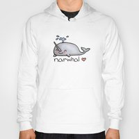 narwhal Hoodies featuring narwhal  by geeboo