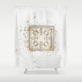 Vintage Tin Sketch Shower Curtain