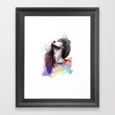 Crystalised // Fashion Illustration  Framed Art Print