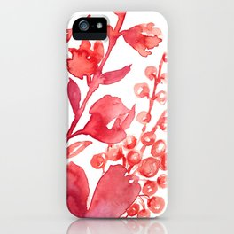Abstract floral & square #1 iPhone Case