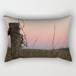 Sunset On A Back Road Rectangular Pillow